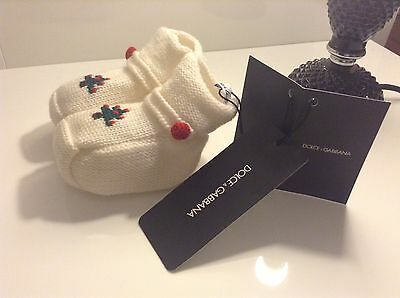 BNWT 100% Auth Dolce & Gabbana, Baby Boy / Girl Cute Booties / Shoes. 6-9 Months