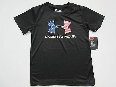 Under Armour Heat Gear Boys' Black Short Sleeve Shirt Youth 6 - NWT
