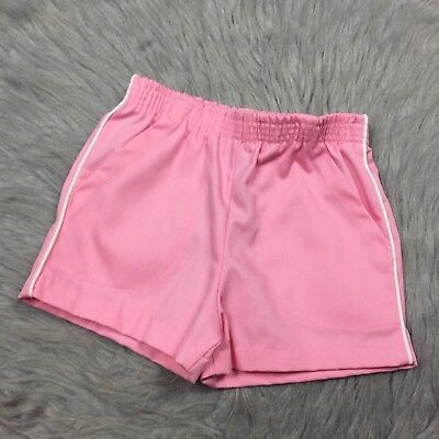 Vintage Baby Girls Doe Spun Pink White Stripe Shorts