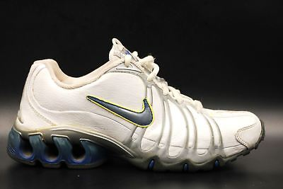163cd5ea806 NIKE Impax Women Athletic Running Shoes Size 6.5 White Silver Leather 050810