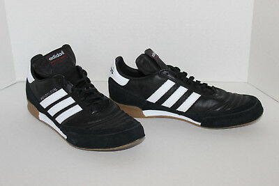 c60cadfa43 Adidas Men s Mundial Goal Indoor Soccer Shoes US 9 Black White 019310