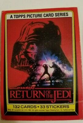 Lot of Vintage Star Wars Return Of The Jedi Topps Trading Cards and Stickers