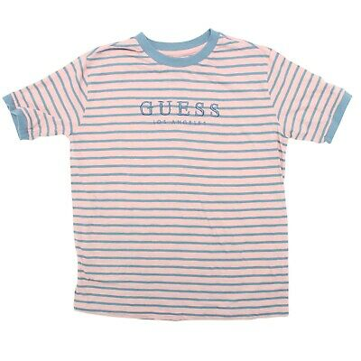 54994f29e3 GUESS ORIGINALS STRIPED Tee Vertical Stripes T-Shirt Size XL X-Large ...