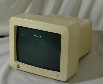 Apple Monochrome 8 Inch Monitor IIc A2M4090 G090S - Tested, Working!