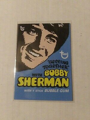 2018 Topps 80Th Anniversary Wrapper Art Card #56 - 1971 Bobby Sherman Getting To