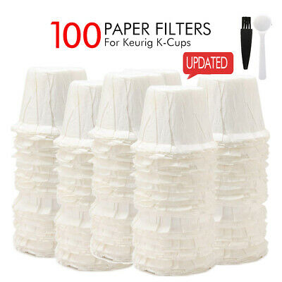 100pcs Disposable Paper Filters Cups Replacement K-cup Filters for Keurig K-cup