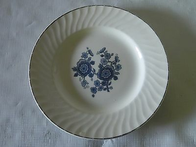 Vintage Enoch Wedgewood Royal Blue Ironwood  Bread And Butter Plate China