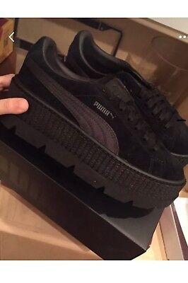 newest 33c68 1e449 PUMA FENTY BY Rihanna Suede Cleated Creeper Sneakers - Black - Womens