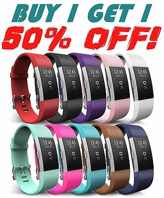 For Fitbit CHARGE 2 Replacement Silicone Rubber Band Strap Bracelet Wristband US
