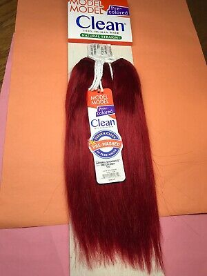 "MODEL MODEL Clean 100% Human Hair Weave Extension Yaky_8""_#130"