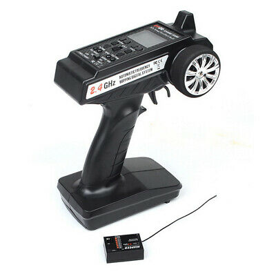 2.4GHz 3CH Radio Remote Control RC Car/Boat LCD Transmitter W/Receiver #eq