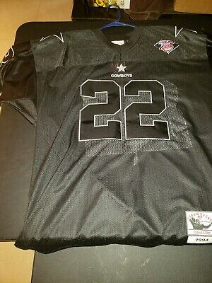 online store c5349 d50f7 DALLAS COWBOYS EMMITT smith Jersey BLACK Mitchell and Ness