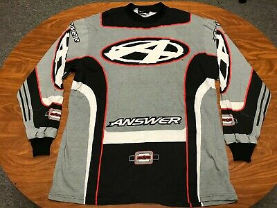 Mens Vintage Lightly Worn Answer Racing Long Sleeve Motocross Shirt Jersey Large