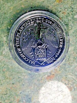 2019 Queen's Beasts 2 oz Silver Falcon of The Plantgenets BU RM In Capsule