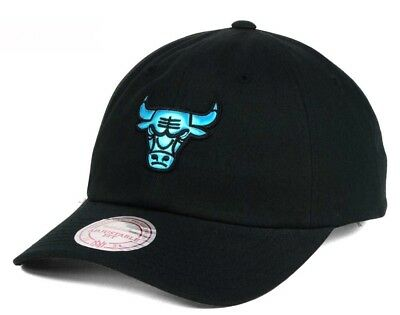 New Chicago Bulls Mitchell   Ness Hat Cap Gaze Adjustable Black 767cea388b61