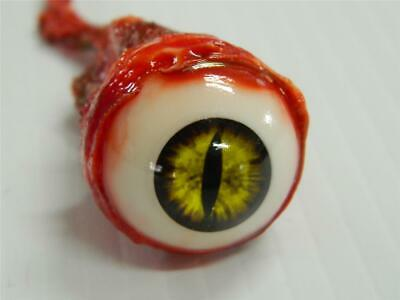 HALLOWEEN HORROR Movie PROP RIPPED OUT EYEBALL Yellow Snake/Demon
