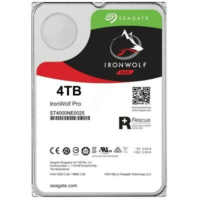 "Seagate IronWolf Pro 4TB 3.5"" SATA Internal NAS Hard Drive HDD 7200RPM 128MB"