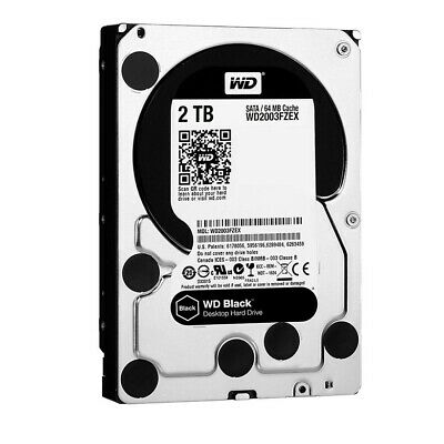 "Western Digital WD Black 2TB 3.5"" SATA Internal Desktop Hard Drive HDD 7200RPM"