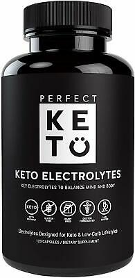 Perfect Keto Flu Electrolyte Supplement: Electrolytes Capsules for Low Carb Diet