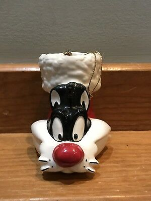Looney Tunes Sylvester Christmas Ornament 1994 Warner Bros