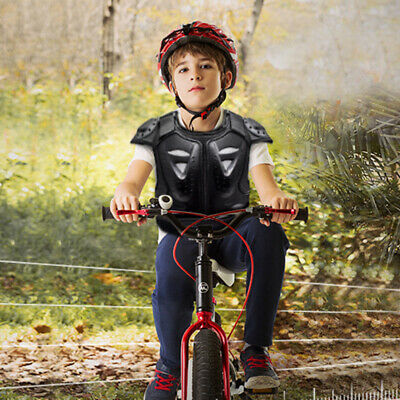 Kids Cycling Spine Protector Dirt Bike Riding Armour Vest Motorcycle Safety Gear