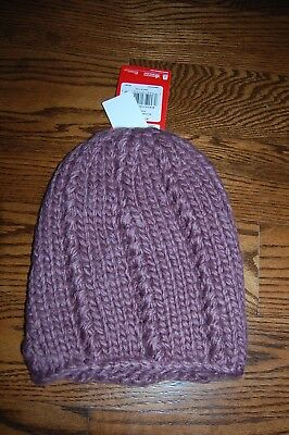 efd6956f43b The North Face Chunky Knit Beanie Womens One Size Black Plum NWT