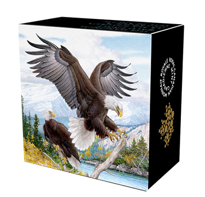 2016 Canada $20 dollars 9999 silver coin The Baronial Bald Eagle Color Proof
