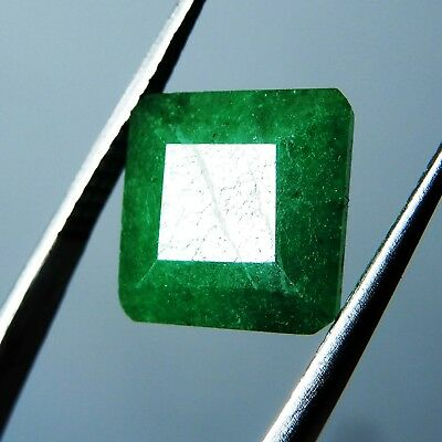 1.70 Ct. Natural Square Cut Colombian Green Emerald Loose Gemstone P