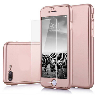 Rose Gold 360° Full Body Protection Hard Case Cover For iPhone 6 Plus / 6s Plus