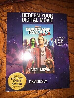 Guardians of The Galaxy Vol 2 Digital HD Movie Code Only (no Discs Included)