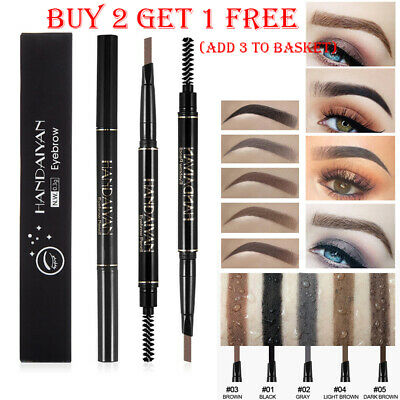 Brow Pencil Waterproof Double Long Lasting Rotatable Triangle Eyebrow Pen IFG