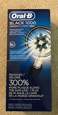 NIB Oral-B Black Pro 1000 Crossaction Rechargeable toothbrush