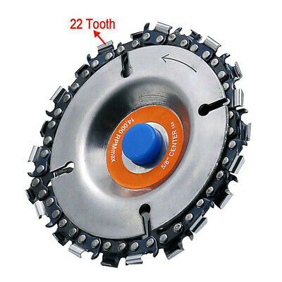 Grinder Disc And Chain Set 22 Tooth Fine Cut for Angle Grinding Carving Wood