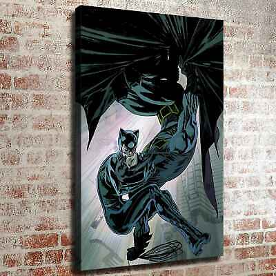 Catwoman and Batman Kiss HD Canvas prints Painting Home decor Room Wall art 6123