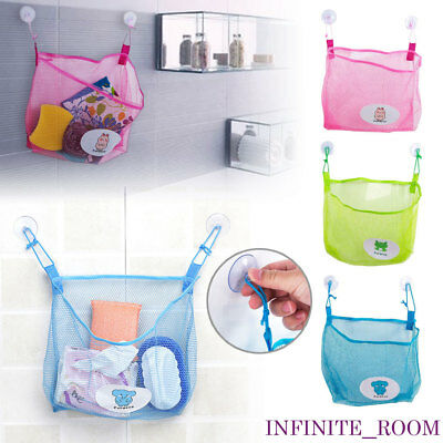 Bath Time Kids Baby Toy Suction Cup Tidy Storage Bathroom Mesh Organizer Net Bag