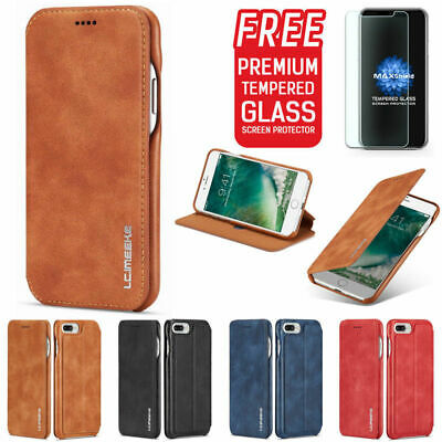 Luxury Ultra Thin Leather Wallet Stand Flip Case Cover For iPhone 7 8 Plus X