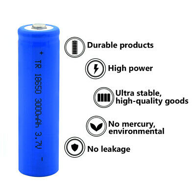14500 16340 18650 26650 3.7V 1500~9800mAh Rechargeable Battery Cells + Charger
