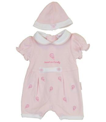 BabyPrem Premature Baby Girls Romper Playsuit Pink Clothes Preemie Size 3 - 8lb