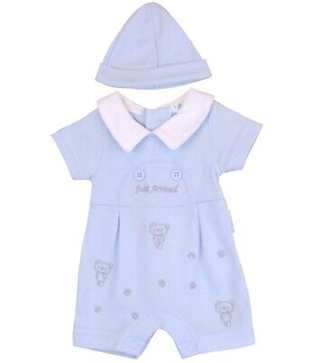 BabyPrem Premature Baby Boys Romper Playsuit Blue Clothes Preemie Size 3 - 8lb
