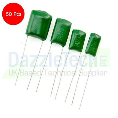 Mylar Polyester Film Capacitors  38 values available packs of 10 *UK SELLER*