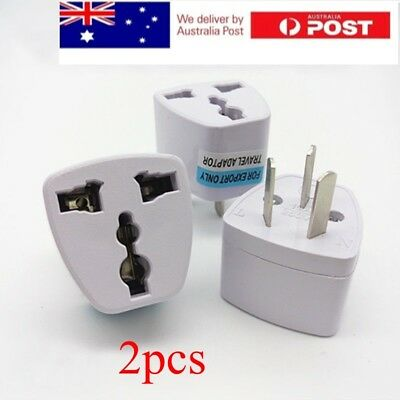 2X UK/US/EU Universal to AU AUS Australian Power Plug Adapter 3 pin Converter