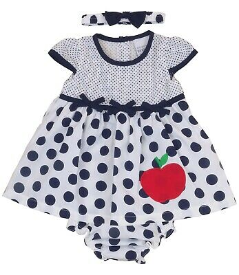 BabyPrem Baby Girls Navy Dress Summer Outfit 9-12  12-18 18-24 months