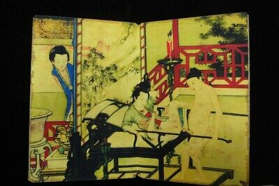 """Fine Old Chinese Erotic People Drawing """"chungongtu"""" Paper Painting Book"""