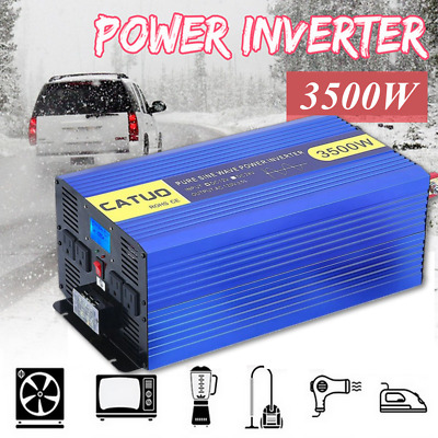DC 12V to 120V for Car RV Home Pure Sine Wave Power Inverter 3500W Peak7000W