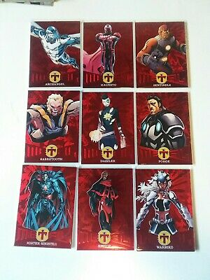 2018 Fleer Ultra X-Men Red Precious Metal Gems Lot Pick ONE Sabretooth Forge /99