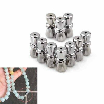 10pcs magnetic clasps stainless steel magnetic clasps with safe snap lock fit P0
