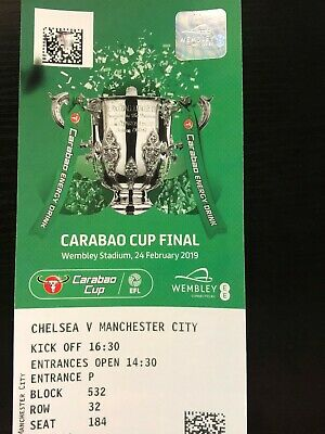 2019 Carabao Cup Final Tickets (Man City End)