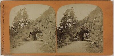 Tunnel Roche Vosges France Photo Braun Stereo PL28Th1n36 Vintage Albumine