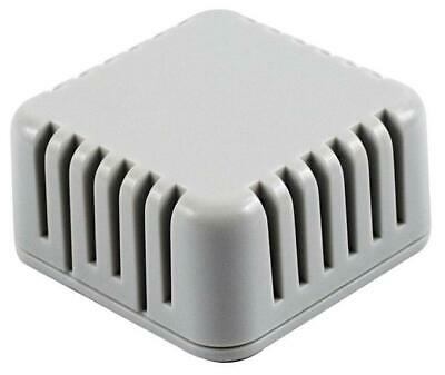 IP30 Miniature Vented Enclosure, Light Grey, 40x40x20mm - HAMMOND