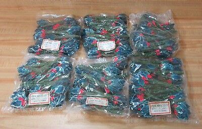 Lot of 864 Lacquered Blue Artifcial Ivy Leaves & Holly Berries Christmas Crafts